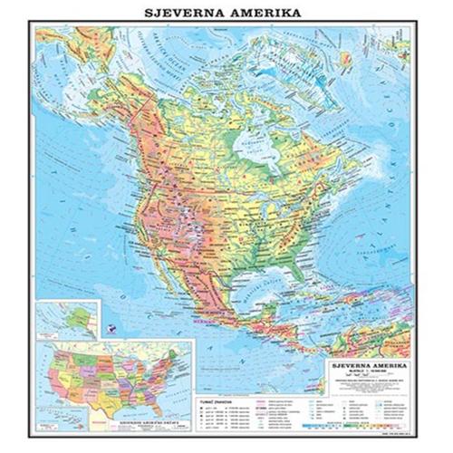 Zk Sjeverna Amerika Fizicka Educa Print Centar D O O